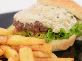 Receita fácil de hamburguer com cogumelos