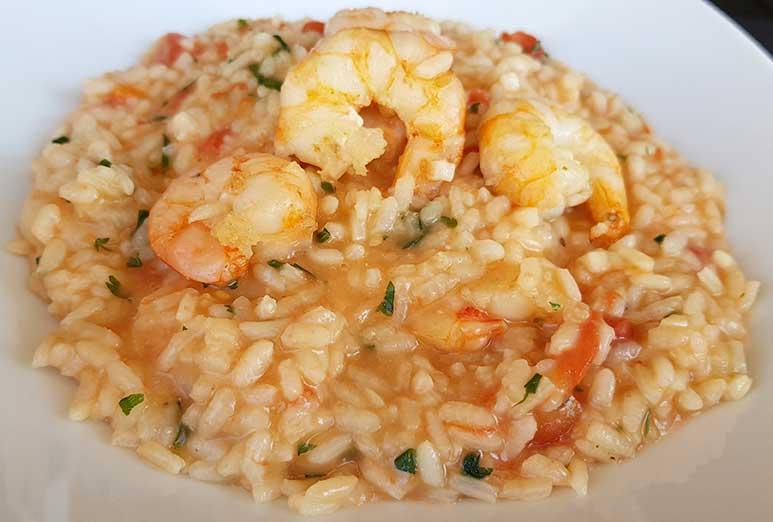 receita fácil de risoto de camarão
